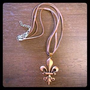 Copper Fleur-De-Lis Necklace